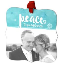 Thumbnail for Fancy Bracket Metal Ornament with Peace design 2