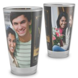 Thumbnail for Pint Glass with Man And Wife Mr. design 2