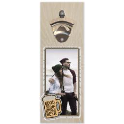 Thumbnail for Wall Mounted Bottle Opener with Good People Drink Good Beer design 1