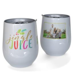 Thumbnail for Stainless Steel Wine Tumbler with Jingle Juice design 1