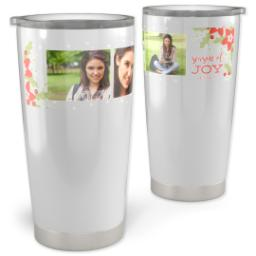 Thumbnail for 20oz Vacuum Travel Tumbler with Boughs Of Joy design 1