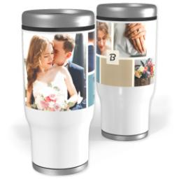 Thumbnail for Stainless Steel Tumbler, 13oz with Color Block design 2