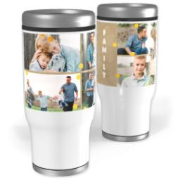 Thumbnail for Stainless Steel Tumbler, 13oz with Gold Confetti With Canvas design 1