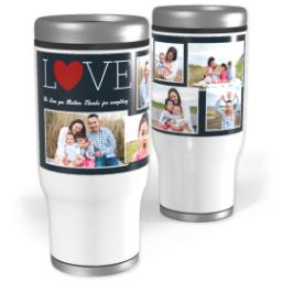 Thumbnail for Stainless Steel Tumbler, 13oz with Love Collage design 1
