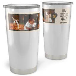 Thumbnail for 20oz Vacuum Travel Tumbler with Pet Rescue design 1